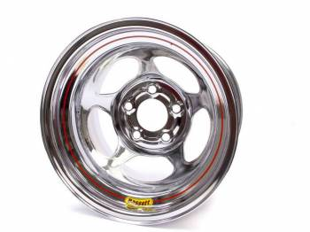 "Bassett Racing Wheels - Bassett Inertia Advantage Wheel - 15"" x 10"" - 5 x 5"" - Chrome - 4"" Back Spacing - 20 lbs."