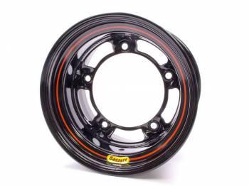 "Bassett Racing Wheels - Bassett Wide 5 Armor Edge Spun Wheel - 15"" x 10"" - Black - 4"" Back Spacing - 18 lbs."