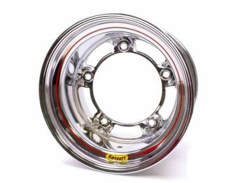 "Bassett Racing Wheels - Bassett Wide 5 Armor Edge Spun Wheel - 15"" x 10"" - Chrome - 4"" Back Spacing - 18 lbs."