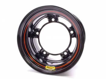 "Bassett Racing Wheels - Bassett Wide 5 Armor Edge Spun Wheel - 15"" x 10"" - Black - 5.5"" Back Spacing - 18 lbs."