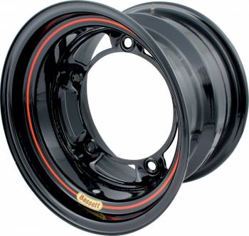 "Bassett Racing Wheels - Bassett Ultra Light Wide 5 Wheel - 15"" x 10"" - Black - 5"" Back Spacing - 15.75 lbs."