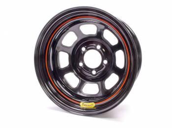 "Bassett Racing Wheels - Bassett DOT Wheel - 15"" x 7"" - 5 x 4.75"" - Black - 2"" Back Spacing - 21.75 lbs."