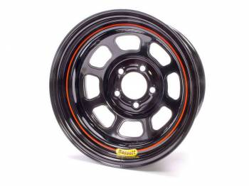 "Bassett Racing Wheels - Bassett DOT Street Legal Wheel - 15"" x 7"" - 5 x 4.75"" - Black - 3.75 Back Spacing - 21.75 lbs."