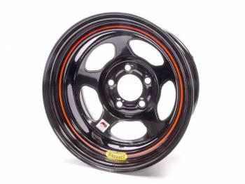 "Bassett Racing Wheels - Bassett IMCA Inertia Wheel - 15"" x 8"" - 5 x 5"" - Black - 1"" Back Spacing - 19 lbs."