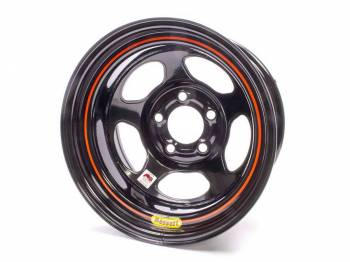 "Bassett Racing Wheels - Bassett IMCA Inertia Wheel - 15"" x 8"" - 5 x 5"" - Black - 4"" Back Spacing - 19 lbs."