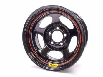 "Bassett Racing Wheels - Bassett Armor Edge Dirt Track Wheel - 15"" x 8"" - 5 x 4.75"" - Black - 3"" Back Spacing - 19 lbs."