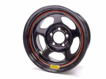 "Bassett Racing Wheels - Bassett Armor Edge Dirt Track Wheel - 15"" x 8"" - 5 x 4.75"" - Black - 4"" Back Spacing - 19 lbs."