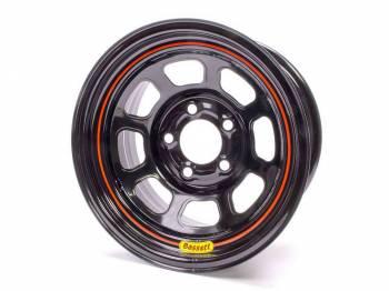 "Bassett Racing Wheels - Bassett Spun Wheel - 15"" x 8"" - 5 x 5"" - Black - 2"" Back Spacing - 17 lbs."