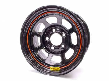 "Bassett Racing Wheels - Bassett Spun Wheel - 15"" x 8"" - 5 x 4.75"" - Black - 5"" Back Spacing - 17 lbs."