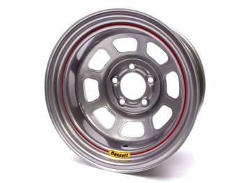 "Bassett Racing Wheels - Bassett Spun Wheel - 15"" x 8"" - 5 x 4.75"" - Silver - 5"" Back Spacing - 17 lbs."