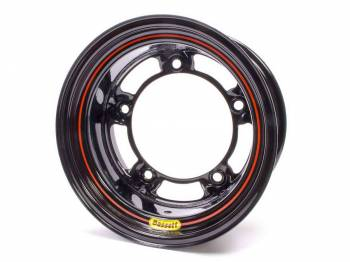 "Bassett Racing Wheels - Bassett Wide 5 Spun Wheel - 15"" x 8"" - Black - 2"" Back Spacing - 15.5 lbs."