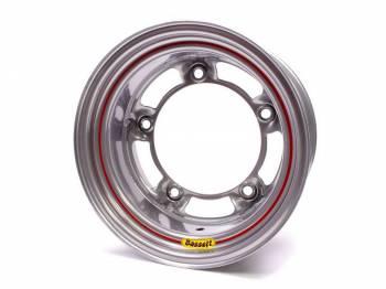 "Bassett Racing Wheels - Bassett Wide 5 Spun Wheel - 15"" x 8"" - Silver - 2"" Back Spacing - 15.5 lbs."