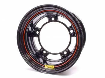 "Bassett Racing Wheels - Bassett Wide 5 Spun Wheel - 15"" x 8"" - Black - 3"" Back Spacing - 15.5 lbs."