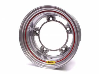 "Bassett Racing Wheels - Bassett Wide 5 Spun Wheel - 15"" x 8"" - Silver - 4"" Back Spacing - 15.5 lbs."