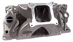 "BRODIX - Brodix High Velocity Intake Manifold - SB Chevy - Open Plenum 4-BBL - Stock Intake Port Location. 6.225"" Height"