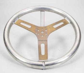 "ButlerBuilt Motorsports Equipment - ButlerBuilt® 15"" Flat Aluminum Steering Wheel - Plain Finish"
