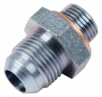 Canton Racing Products - Carter Replacement Fuel Pump Outlet Fitting w/ Crush Washer -06 AN Pump x -08 AN Outlet