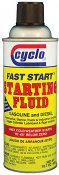 Cyclo Industries - Cyclo Fast Start Starting Fluid - 10.5 oz. Net Wt. Spray