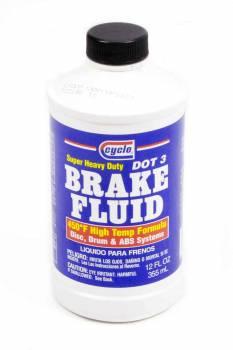 Cyclo Industries - Cyclo Super Heavy Duty Brake Fluid - 450F DOT 3 - 12 fluid oz.