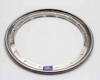 """Bart Wheels - Bart 15"""" Steel Outer Beadlock Ring - Chrome"""