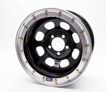 "Bart Wheels - Bart IMCA Beadlock Wheel - Black - 15"" x 8"" - 5"" x 4.5"" Bolt Circle - 3"" Back Spacing - 26 lbs."
