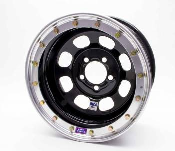"Bart Wheels - Bart IMCA Beadlock Wheel - Black - 15"" x 8"" - 5"" x 4.75"" Bolt Circle - 3"" Back Spacing - 26 lbs."