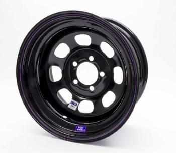 "Bart Wheels - Bart IMCA Wheel - Black - 15"" x 8"" - 5"" x 4.75"" Bolt Circle - 4"" Back Spacing - 19 lbs."