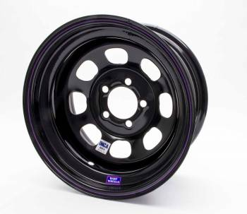 "Bart Wheels - Bart IMCA Wheel - Black - 15"" x 8"" - 5"" x 5"" Bolt Circle - 3"" Back Spacing - 19 lbs."