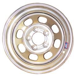 "Bart Wheels - Bart Standard Weight Wheel - Silver - 15"" x 7"" - 5 x 4.5"" Bolt Circle - 3"" Back Spacing - 27 lbs."