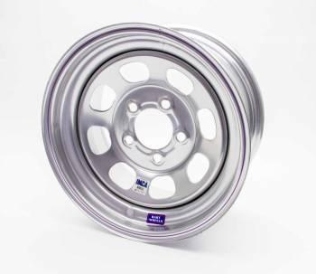 "Bart Wheels - Bart IMCA Wheel - Silver - 15"" x 8"" - 5"" x 4.75"" Bolt Circle - 3"" Back Spacing - 19 lbs."