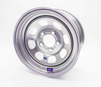 "Bart Wheels - Bart IMCA Wheel - Silver - 15"" x 8"" - 5"" x 5"" Bolt Circle - 5"" Back Spacing - 19 lbs."