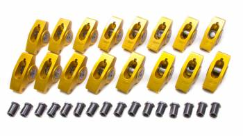"Crane Cams - Crane Cams Gold Aluminum Race Rocker Arm Set - SB Chevy Standard - 1.5 Ratio, 7/16"" Stud - Clears 1.630"" Valve Springs"