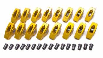 "Crane Cams - Crane Cams Gold Aluminum Race Rocker Arm Set - SB Chevy Standard - 1.5 Ratio, 7/16"" Stud - Clears 1.630"" Valve Springs"