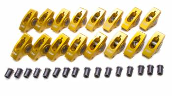 "Crane Cams - Crane Cams Gold Aluminum Race Rocker Arm Set - SB Chevy Standard - 1.6 Ratio, 7/16"" Stud - Clears 1.630"" Valve Springs"