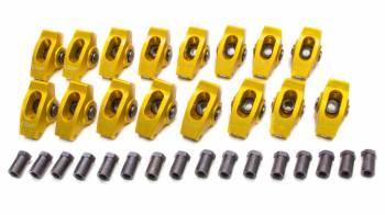 "Crane Cams - Crane Cams Gold Race Extruded Aluminum Roller Rocker Arms (16) - 1.6 Ratio - 3/8"" Stud - Chevrolet 90° V-6 78-86, 200-229 (3.8L), 262 (4.3L)"