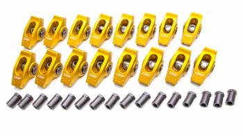 "Crane Cams - Crane Cams Gold Race Extruded Aluminum Roller Rocker Arms (16) - 1.6 Ratio - 3/8"" Stud - Stud Mount - SB Ford 289, 302, 351W"