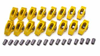 "Crane Cams - Crane Cams Gold Race Extruded Aluminum Roller Rocker Arms (16) - 1.6 Ratio - 7/16"" Stud - Stud Mount - SB Ford 289, 302, 351W"