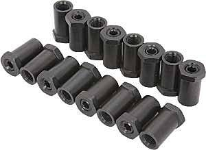 "Crane Cams - Crane Cams Aluminum Rocker Arm Adjusting Nuts (16) - 3/8"" Stud"