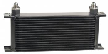 Derale Performance - Derale Stacked Plate Oil Cooler - 16 Row, -6 AN Fittings