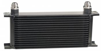 Derale Performance - Derale Stacked Plate Oil Cooler - 16 Row, -10 AN Fittings