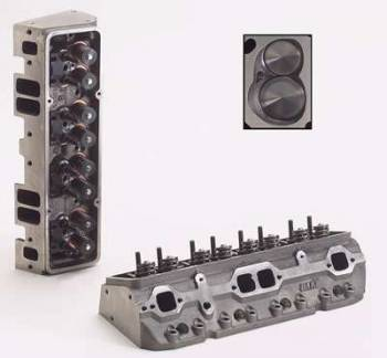 "Dart Machinery - Dart Iron Eagle Platinum Cylinder Head - Assembled - 64cc Chamber - 200cc Intake Runner - SB Chevy 327, 350, 400 - 2.02"", 1.60"" Valves - Straight Plug"
