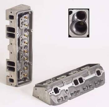 "Dart Machinery - Dart Iron Eagle Platinum Cylinder Head - Bare - 64cc Chamber - 215cc Intake Runner - SB Chevy 327, 350, 400 - Angle Plug - 2.05"", 1.60"" Valves"
