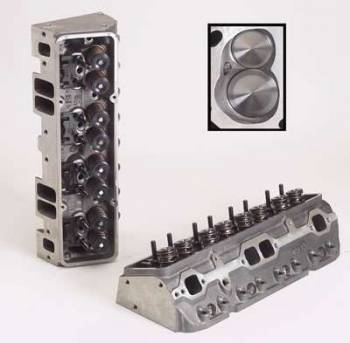 "Dart Machinery - Dart SB Chevy Iron Eagle Platinum Cylinder Head - Assembled - Intake Runner: 215cc, Comb. Chamber: 64cc, Angle Plugs, Intake Valve: 2.05"", Exhaust Valve: 1.60"", 1.437"" Dual Valve Springs"
