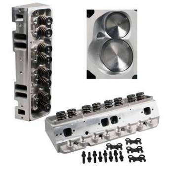 "Dart Machinery - Dart Pro 1 Aluminum Cylinder Head - Assembled - 64cc Chamber - 230cc Intake Runner - SB Chevy 327, 350, 400 - Angle Plug - 2.08"", 1.60"" Valves"