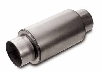 "Dynatech - Dynatech Split-Flow Round Race Muffler - 3"" Inlet, Outlet - Dimensions: 6"" L x 5"" Diameter - UDTRA Approved"