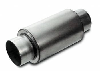 "Dynatech - Dynatech Split-Flow Round Race Muffler - 3 1/2"" Round - 6"" Length x 5"" Diameter - UDTRA Approved"