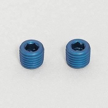 """Aeroquip - Aeroquip Aluminum 1/4"""" NPT Allen Head Pipe Plug - (2 Pack)"""