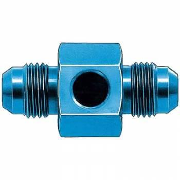 """Aeroquip - Aeroquip Aluminum -06 AN In-Line Fuel Pressure Adapter - 1/8"""" NPT Fuel Pressure Line Output"""