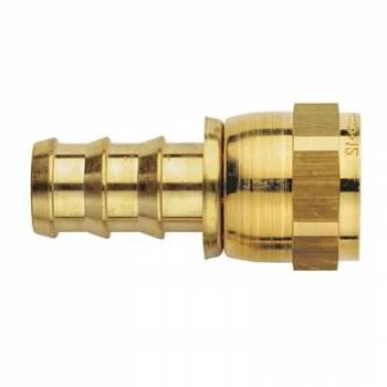 Aeroquip - Aeroquip Brass -08 AN Straight AN SOCKETLESS™ Hose End