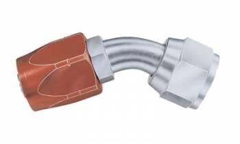 Aeroquip - Aeroquip Reusable Steel -04 AN 45° Non-Swivel Hose End w/ Aluminum Socket